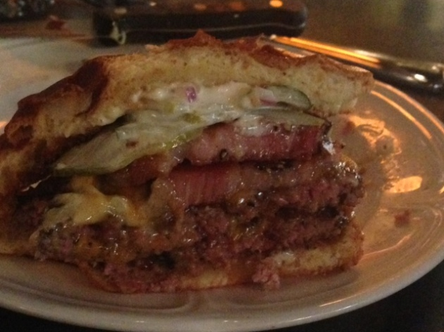 Au Cheval Cheeseburger with bacon
