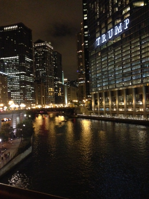 Chicago Riverwalk at Night