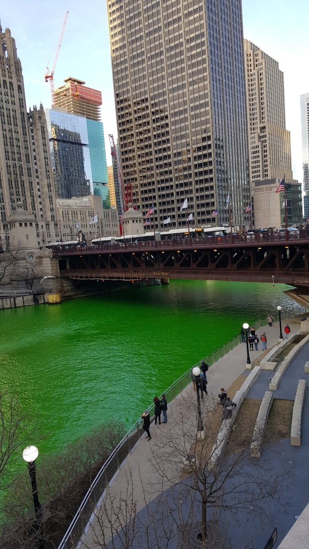 Chicago River Dyeing